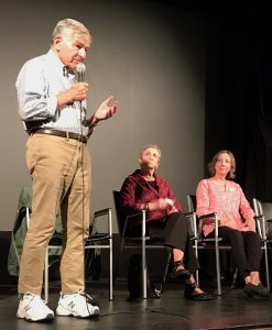 Along with former Governor Michael Dukakis, and Diane Turco of Cape Downwinders, Rep. Balser spoke on a panel about the risks related to nuclear power plants.