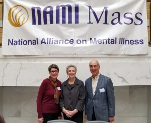 Rep Balser with NAMI advocacy chair and board member on NAMI Advocacy Day at the State House.