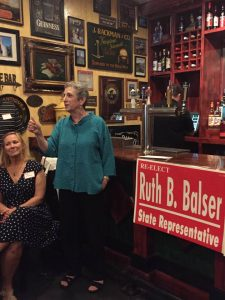 Rep. Balser at her 10th campaign launch event.