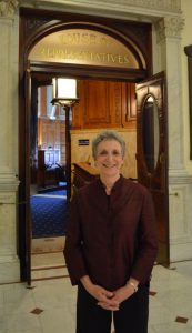 Rep. Ruth Balser at the State House